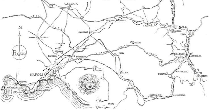 Tracciato acquedotto del Serino
